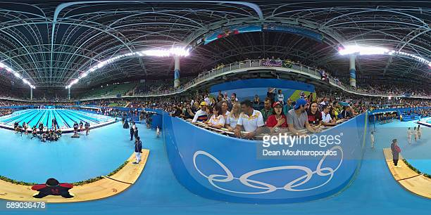 Silver medalist Florent Manaudou of France Gold medalist Anthony Ervin of the United States and bronze medalist Nathan Adrian of the United States...