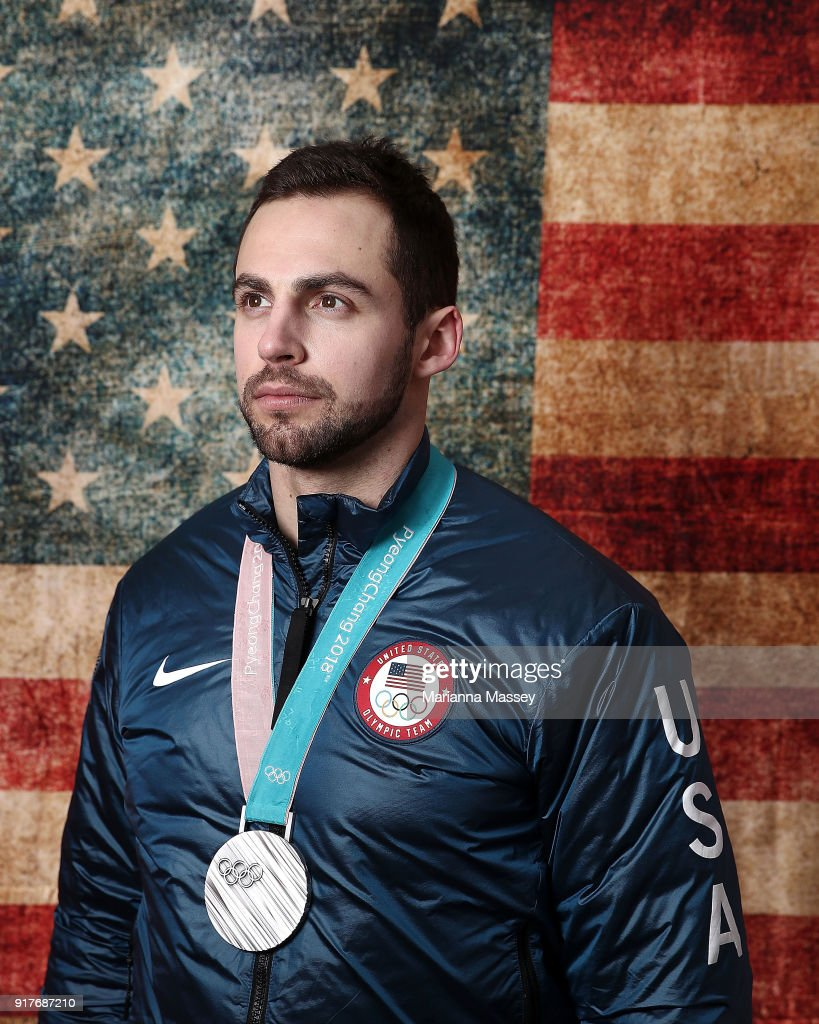 Silver medalist in the Luge Men's Singles Chris Mazdzer of the United States poses for a portrait on the Today Show Set on February 12, 2018 in Gangneung, South Korea.