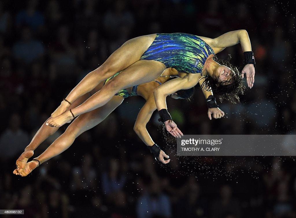 Ingrid Oliveira and Giovanna Pedroso of Brazil compete in the Womens Nachrichtenfoto - Getty