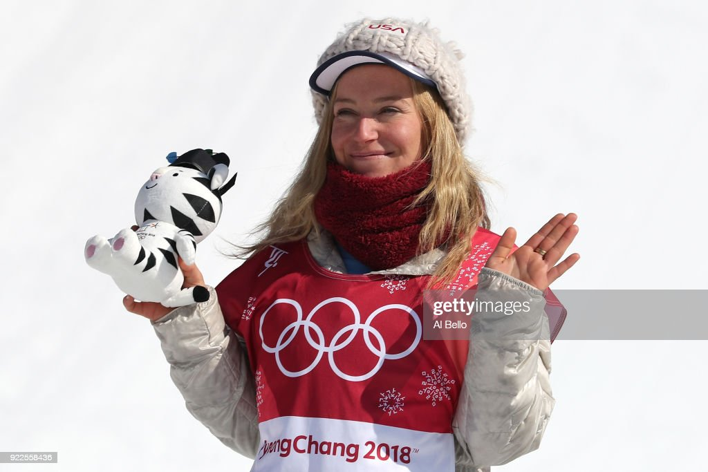 Silver medalist Jamie Anderson of the United States ...