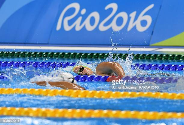 Silver medalist Monique Murphy of Australia competes in the Women's 400m Freestyle S10 Final on day 8 of the Rio 2016 Paralympic Games at Olympic...