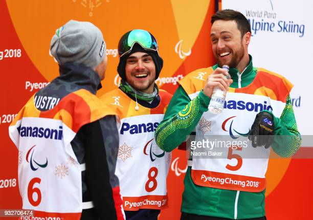 Silver Medalist Patrick Mayrhofer of Austria Gold Medalist Mike Minor of the United States and Bronze Medalist Simon Patmore of Australia await the...