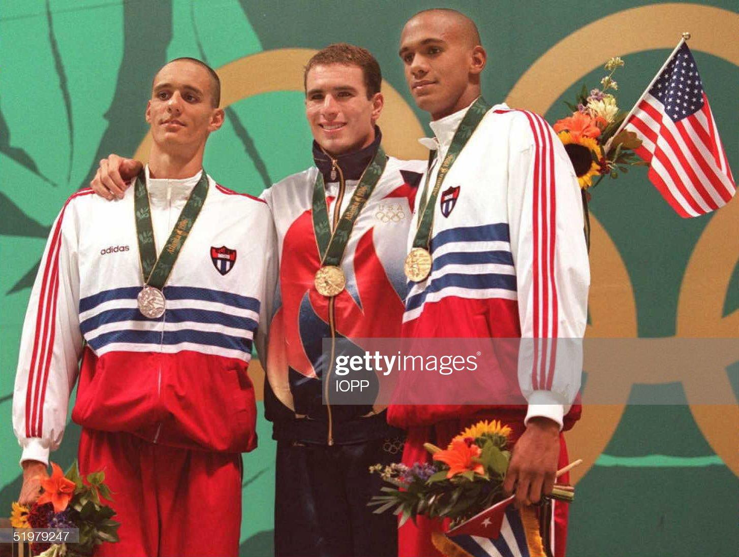 Silver medalist Rodolfo Falcon Cabrera of Cuba, go : Fotografía de noticias