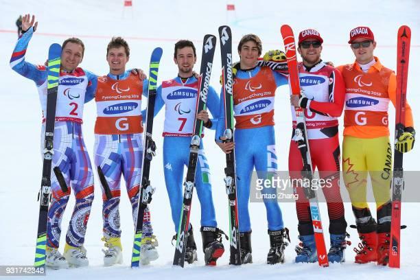 Silver Medalists Jakub Krako and his guide Branislav Brozman of Slovakia Gold Medalists Giacomo Bertagnolli and his guide Fabrizio Casal of Italy and...