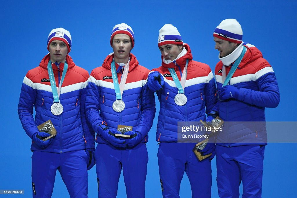Двоеборье / 노르딕 복합 - Страница 11 Silver-medalists-jan-schmid-espen-andersen-jarl-magnus-riiber-and-picture-id923276370
