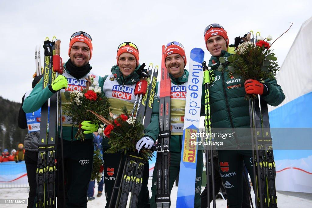 FIS Nordic World Ski Championships - Men's Nordic Combined HS109 Team : Nachrichtenfoto