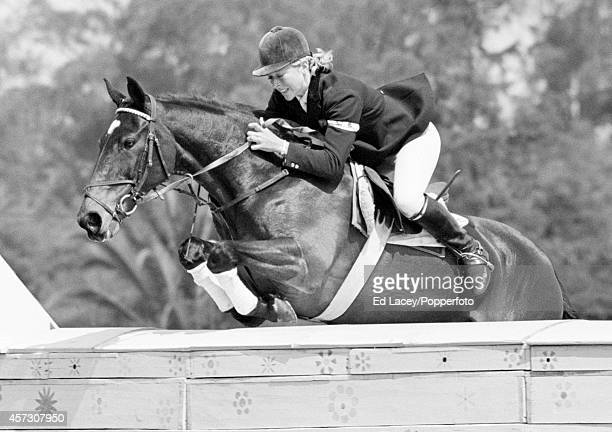 Silver medallist Marion Coakes riding Stroller during the show jumping competition at the Summer Olympic Games in Mexico City circa October 1968