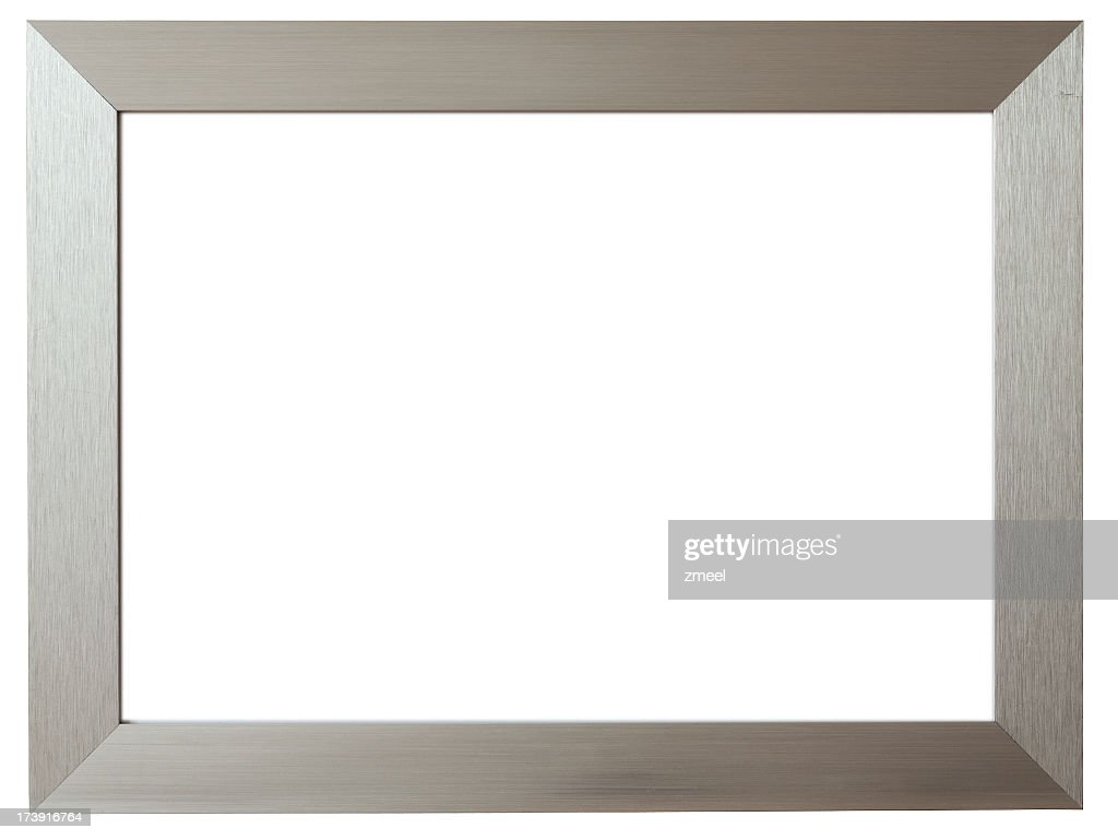 Silver metal picture frame against white background stock photo silver metal picture frame against white background stock photo jeuxipadfo Gallery