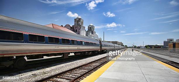 Silver Meteor approaching Orlando Amtrak Station