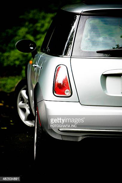 silver mini cooper in toronto - bumper stock pictures, royalty-free photos & images
