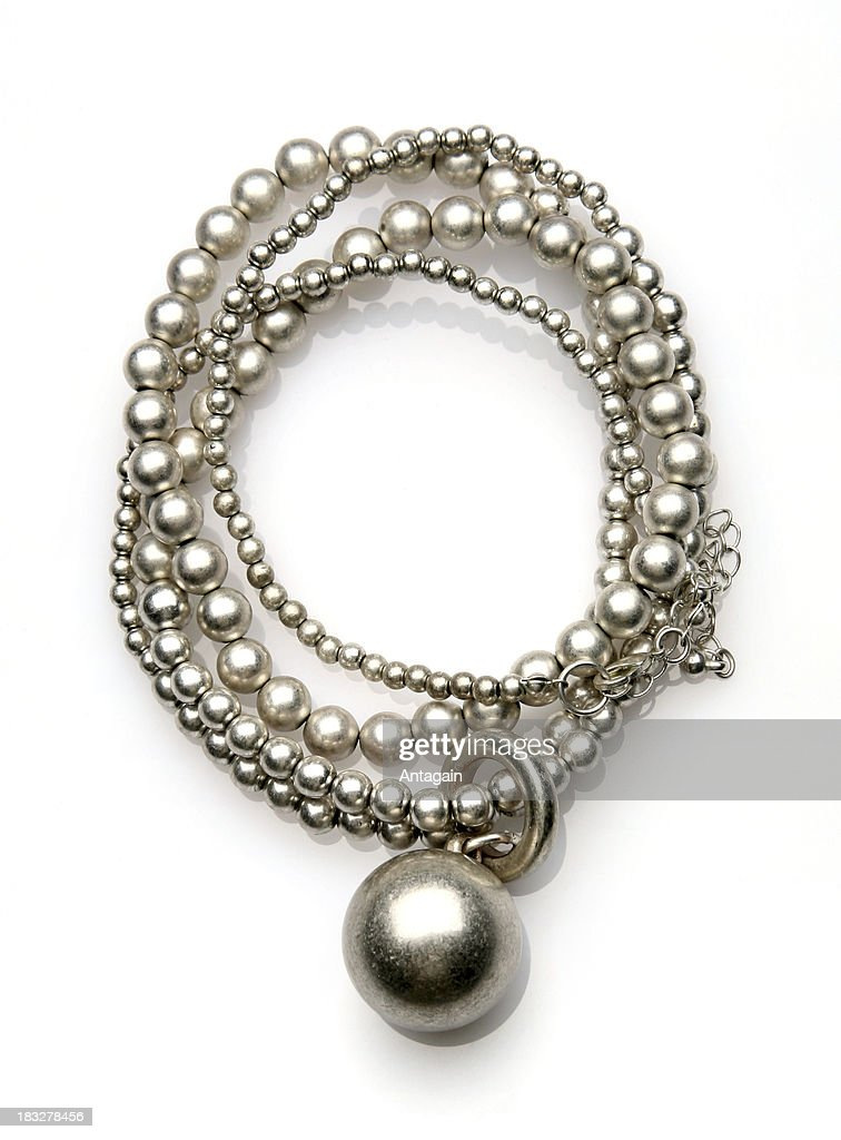 silver necklace : Stock Photo