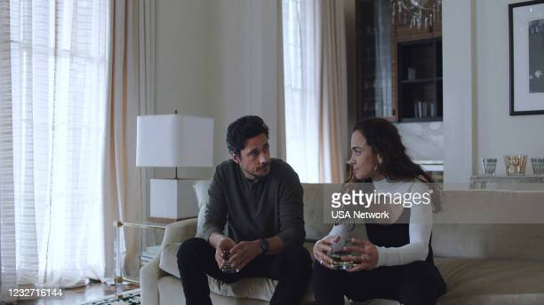 "Silver or Lead"" Episode 506 -- Pictured in this screengrab: Peter Gadiot as James Valdez, Alice Braga as Teresa Mendoza --"