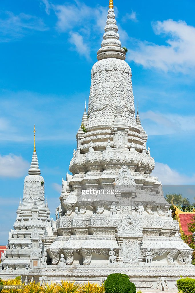 Silver Pagoda in Royal Palace Complex : Stock Photo