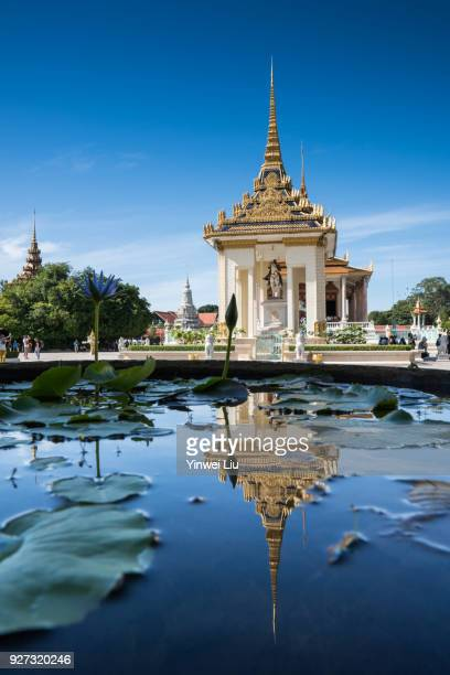 silver pagoda in royal palace complex - phnom penh stock pictures, royalty-free photos & images