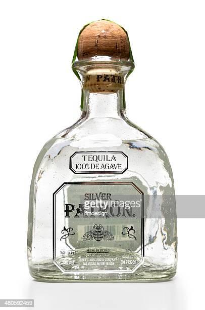 Silver Patron Tequila bottle