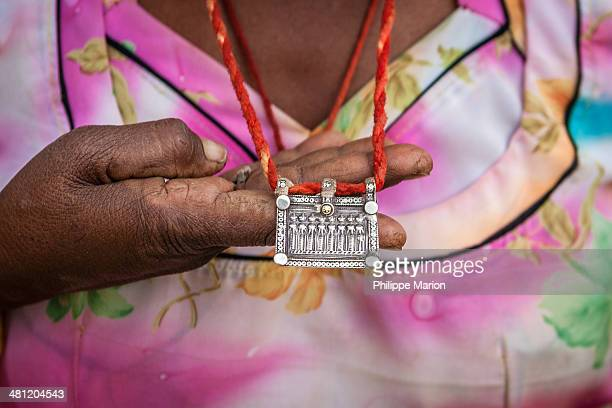 Silver pendant -Folk jewelry of Thar Desert, India