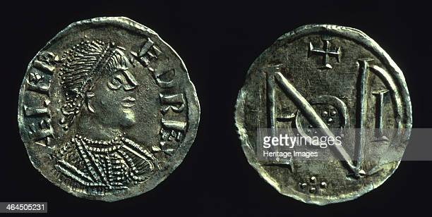 Silver penny of King Alfred c886c899 The reverse of this coin bears a monogram made up of the letters of LVNDONIA possibly to commemorate the...
