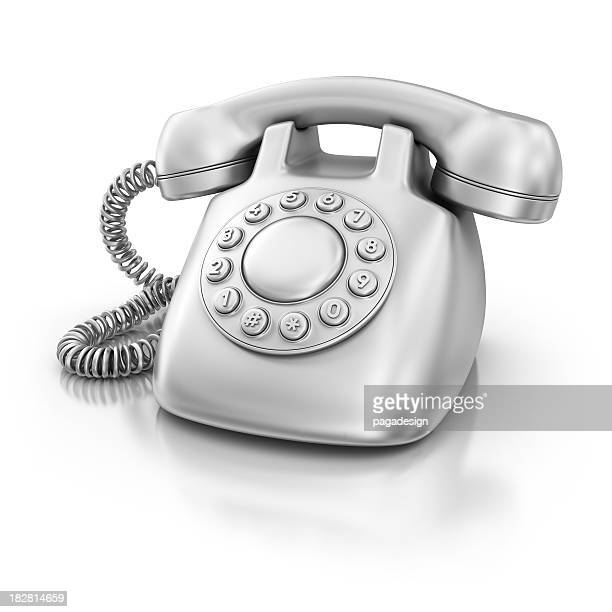 silver phone