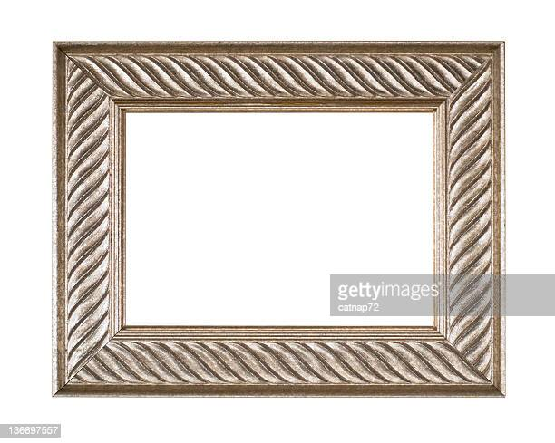 Silver Picture Frame, White Isolated