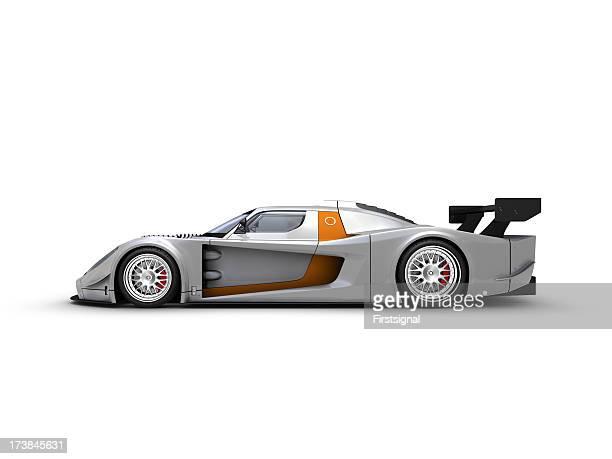 Silver Race car