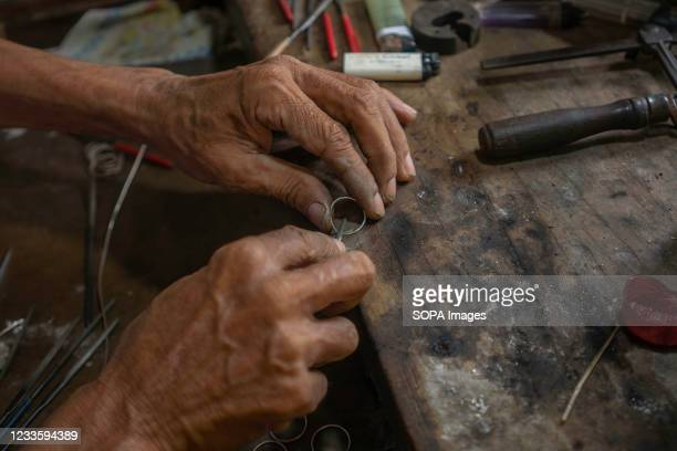 Silver ring refinement process. Kendari Werk jewelry is one of the many cultural treasures that Indonesia has. The meaning of the word 'Werk' itself...