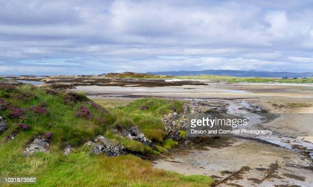 silver sands of morar - mallaig stock photos and pictures