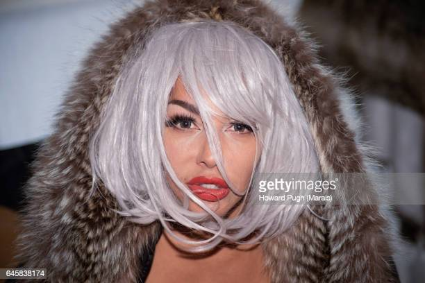 silver screen siren - bleached hair stock photos and pictures