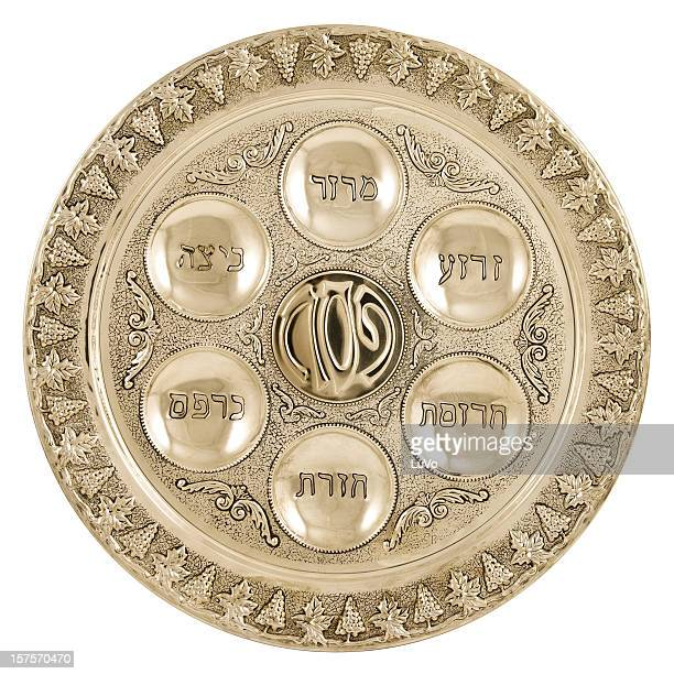 silver seder plate - happy passover stock pictures, royalty-free photos & images