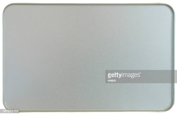 Silver sheet metal frame texture flanged edges background