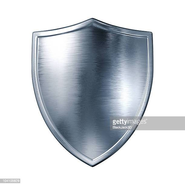 silver shield - shield stock pictures, royalty-free photos & images
