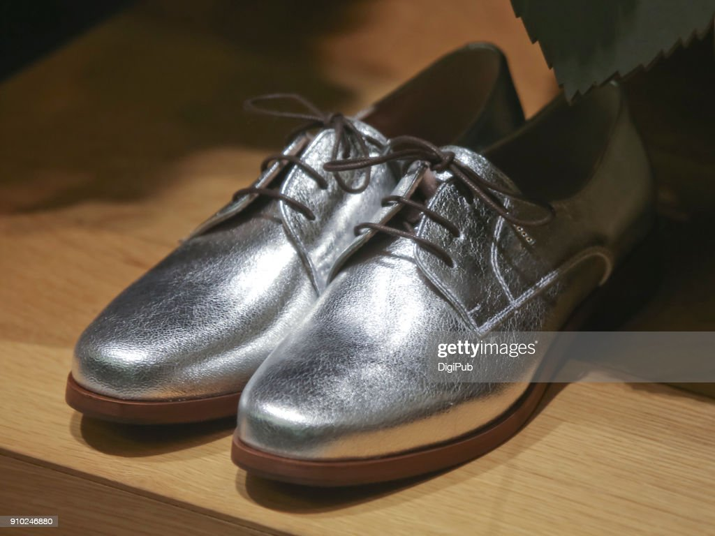 Silver shoes : Stock Photo
