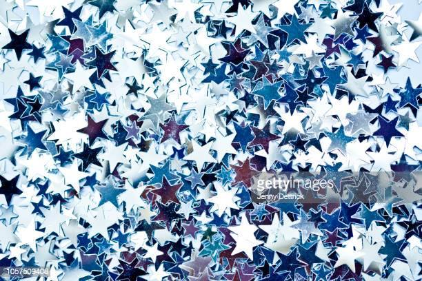 silver stars - stjärnformad bildbanksfoton och bilder