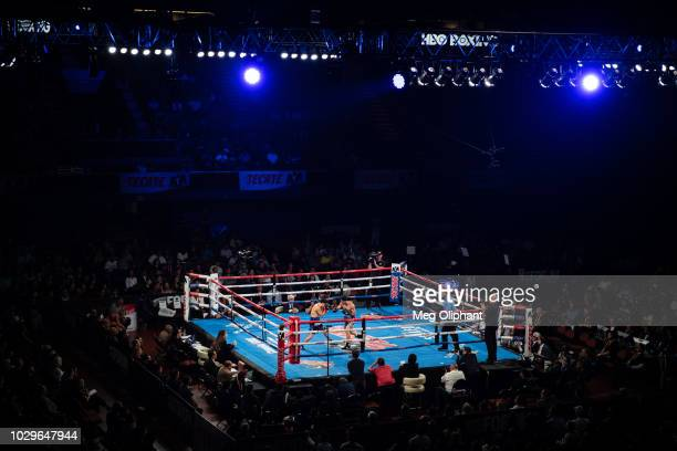 WBC silver super flyweight boxer Kazuto Ioka of Osaka Japan fights McWilliams Arroyo of Fajardo Puerto Rico at The Forum on September 8 2018 in...