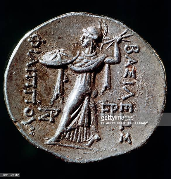 Silver tetradrachm of Philip V of Macedonia depicting Minerva verso Greek coins 3rd2nd century BC Paris Musée Du Cabinet Des Medailles De La...