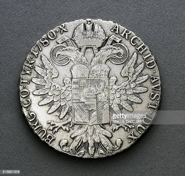 Silver thaler of Maria Theresa reverse twoheaded eagle Austria 18th century Padova Musei Civici Eremitani Palazzo Zuckermann Museo Bottacin