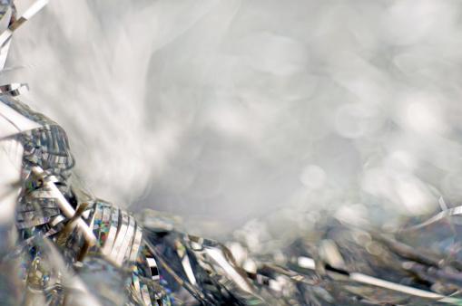 Silver Tinsel Background - gettyimageskorea