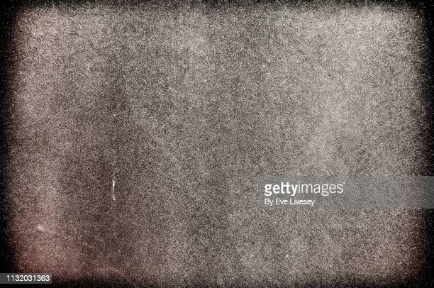 silver wall texture - vignette stock photos and pictures