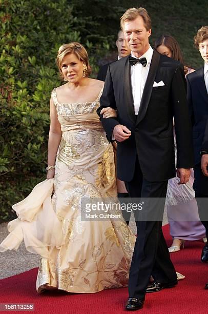 Silver Wedding Anniversary Celebrations Of Grand Duke Henri & Grand Duchess Maria-Theresa Of Luxembourg.Gala Dinner At The Chateau De Berg. .