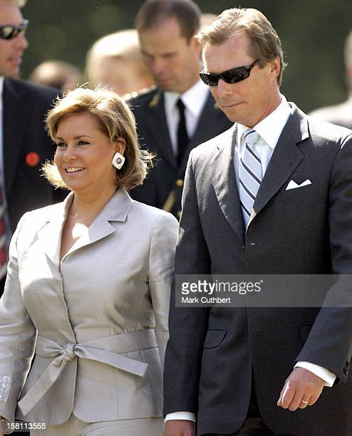 Silver Wedding Anniversary Celebrations Of Grand Duke Henri & Grand Duchess Maria-Theresa Of Luxembourg.Lunch & Reception At The Museum Of Art. .