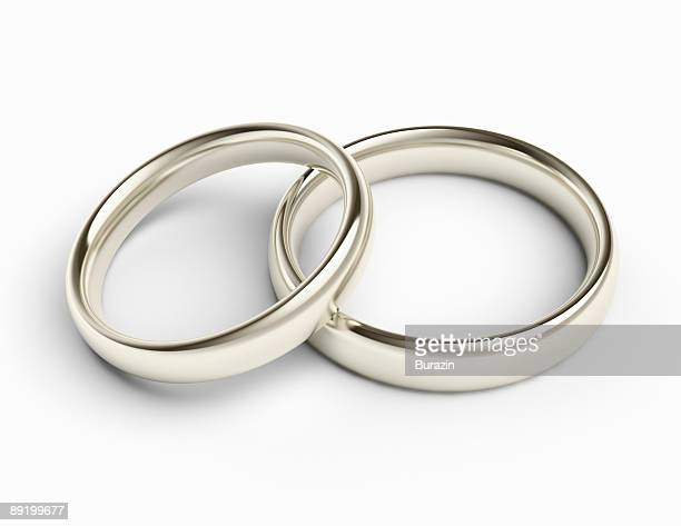 silver wedding bands / rings - wedding ring stock pictures, royalty-free photos & images