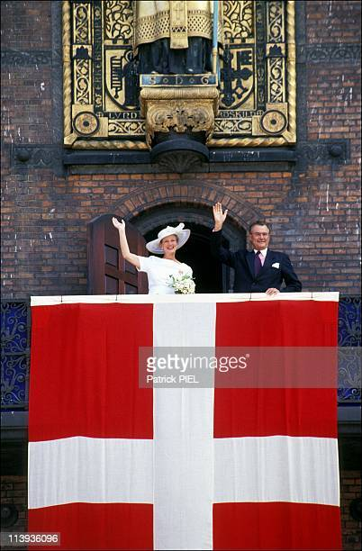 Silver wedding ceremony of Margrethe and Henrik of Denmark in Denmark on June 10 1992