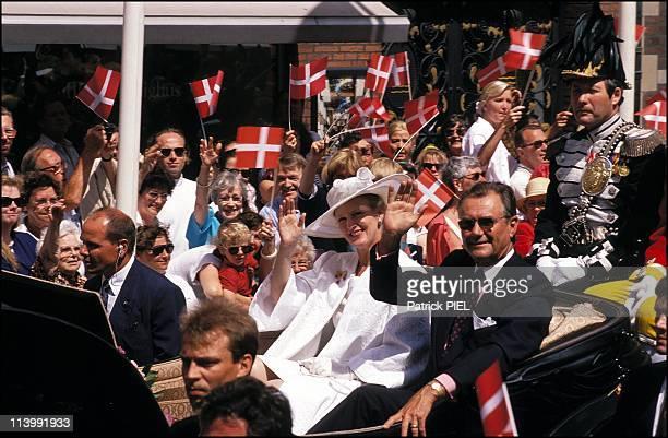 Silver wedding ceremony of Margrethe and Henrik of Denmark in Denmark on June 10 1992