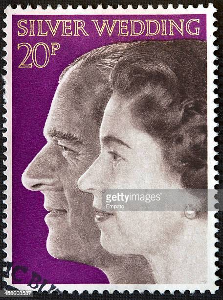 Silver Wedding Stamp circa 1972