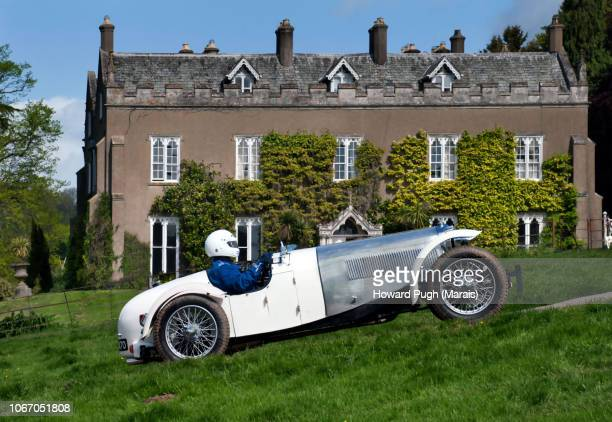 Silver & White Uphill Racing Country Sports Car