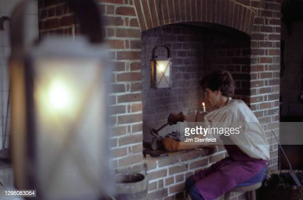Silversmith in Colonial Williamsburg in Williamsburg, Virginia on November 1, 1981.