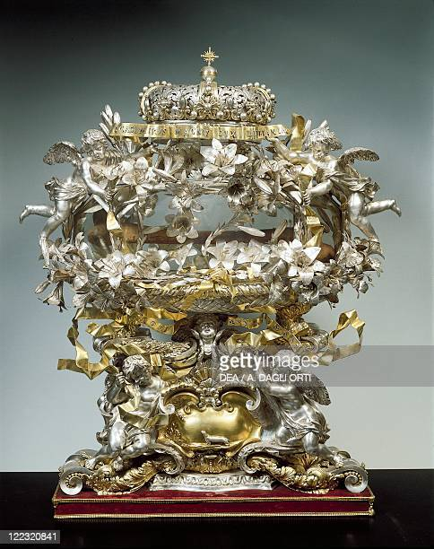 Silversmith's art Italy 17th century Partly gilded silver reliquary of Saint Casimir Grand Ducal workshop manufacture 16801690 85x59 cm