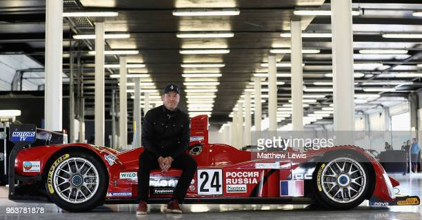 Silverstone Classic Preview Day 2 May 2018 At the Home of British Motorsport Sir Chris Hoy pictured with a 24 Noel del Bello Courage LC75 AER during...