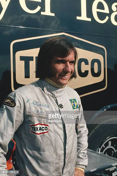 Emerson Fittipaldi is shown here smiling during International Formula One race