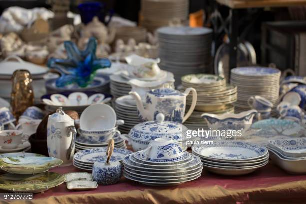 silverware - flea market stock pictures, royalty-free photos & images
