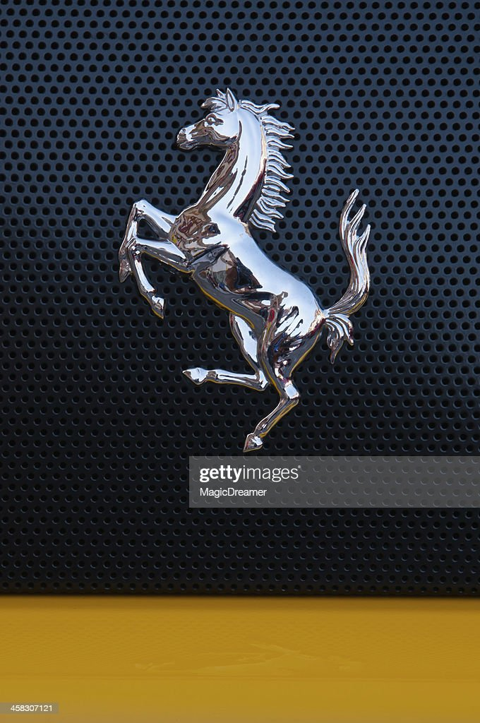 Silvery Horse Of Ferrari High Res Stock Photo Getty Images